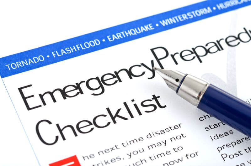 checklist to prepare for disaster