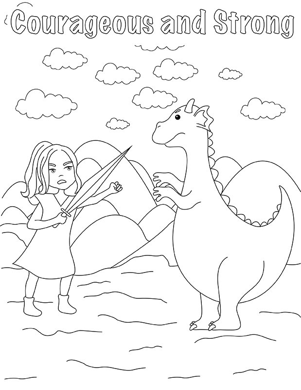 Sample Girl Scout Law Coloring Page
