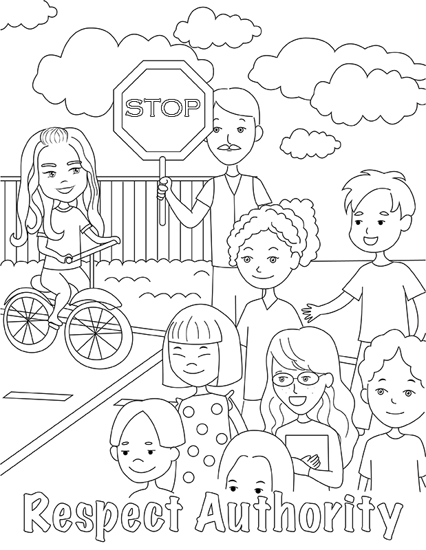 Sample image from the law coloring pages A version.