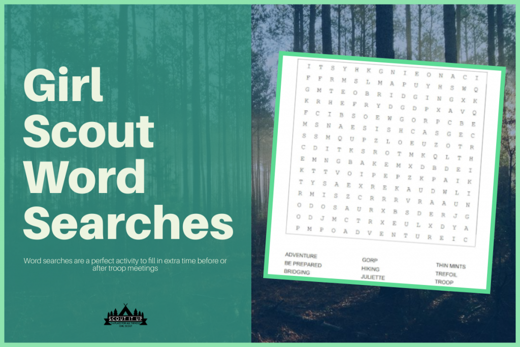 Girl Scout Printable Word Search Puzzles